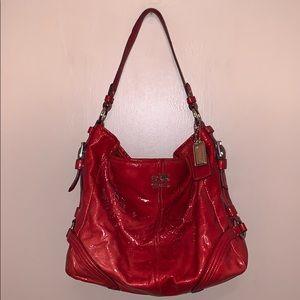 Coach Red Hobo Bag